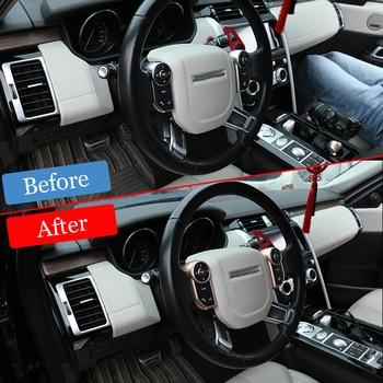 For Discovery 5   Land Rover Range Rover Sport Voque Evoque Velar Car Accessories ABS Steering Wheel Button Decorative Frame 1