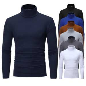 Top Top-Sweater Turtle Long-Sleeve Men Fashion Solid Bottoming-Top