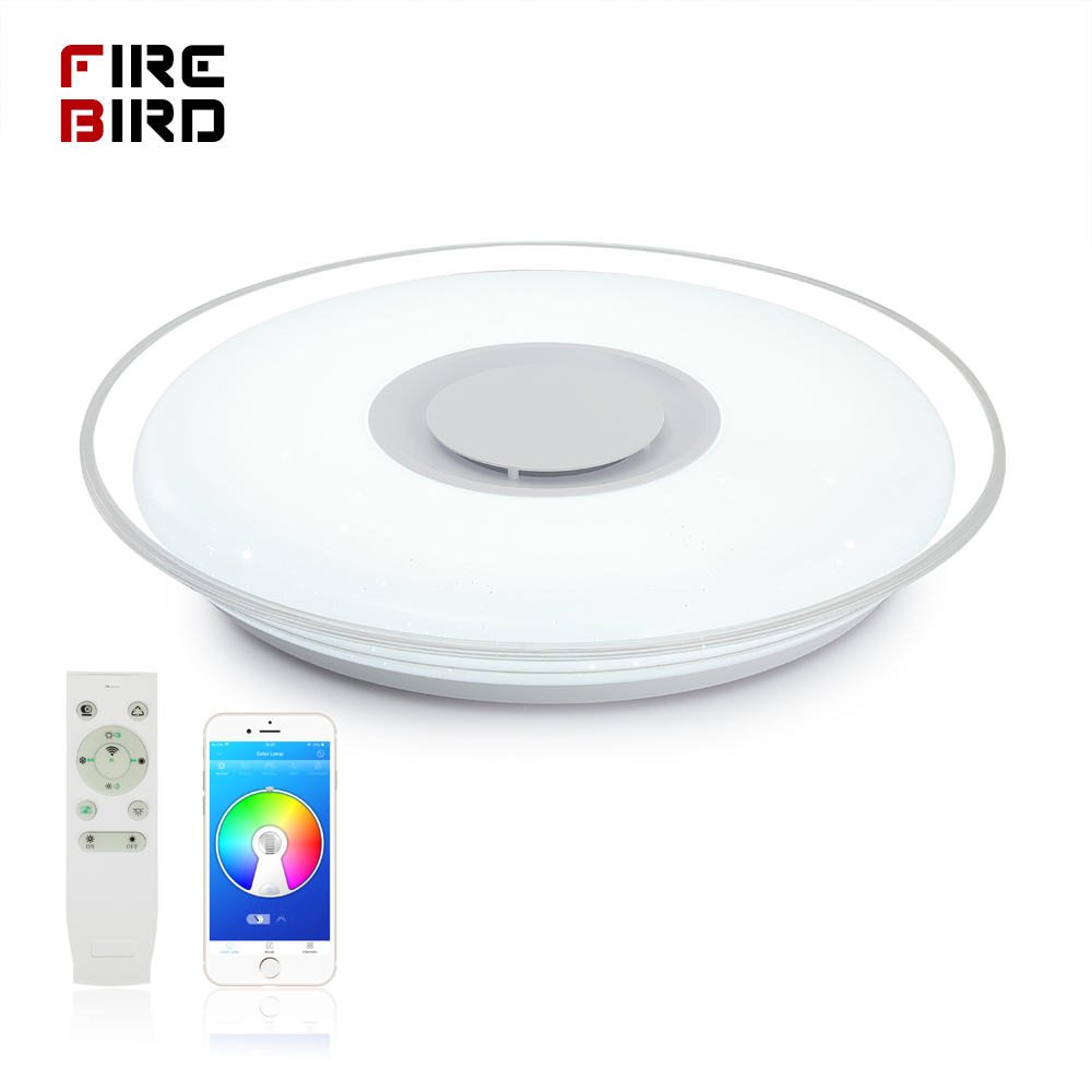 Modern LED Ceiling Lights home lighting HY-36W 52W RGB APP Bluetooth Music light bedroom lamps Living Room Smart ceiling lamp image