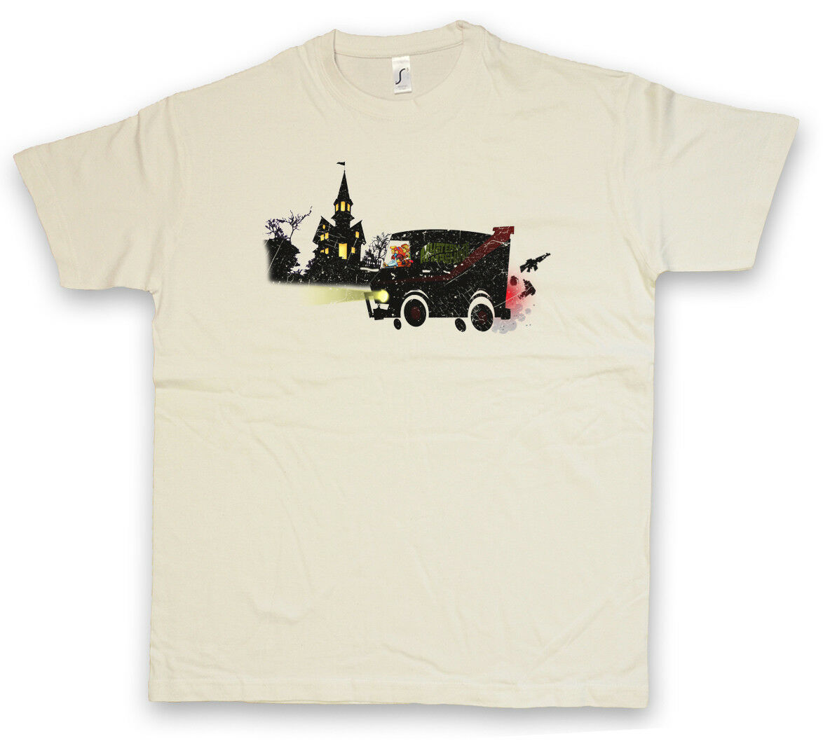 M-TEAM T-SHIRT Scooby A-Team Mystery Doo Machine Van Car TV Mr. T Series Shirt image