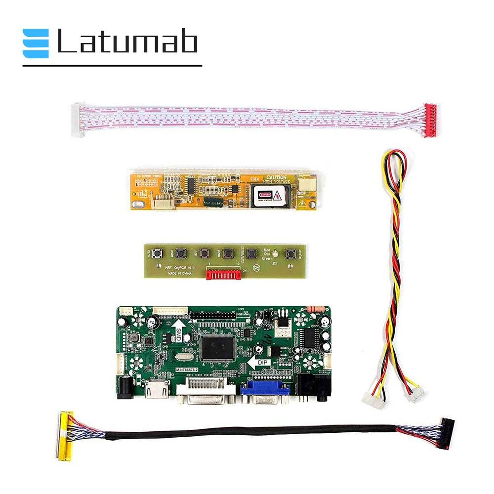 Latumab New Driver Kit Board For LP154WX4 TLC1 / LP154WX4 TLC2 HDMI + DVI + VGA LCD LED LVDS Controller Board