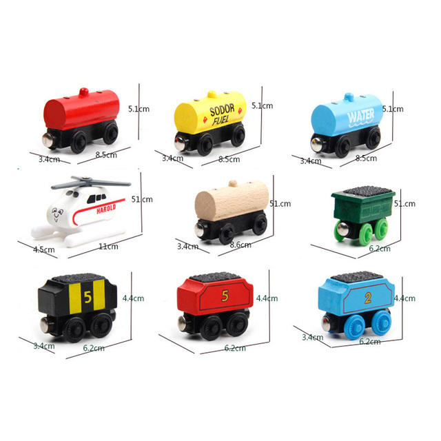 New Emily Wood Train Magnetic Wooden Trains Model Car Toy Compatible with Brio Brand Tracks Railway Locomotives Toys for Child 4