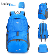Weikani Waterproof Foldable Backpack Nylon Outdoor Climbing Backpack Sports Folding Bag Men Women Travel Hiking Backpack