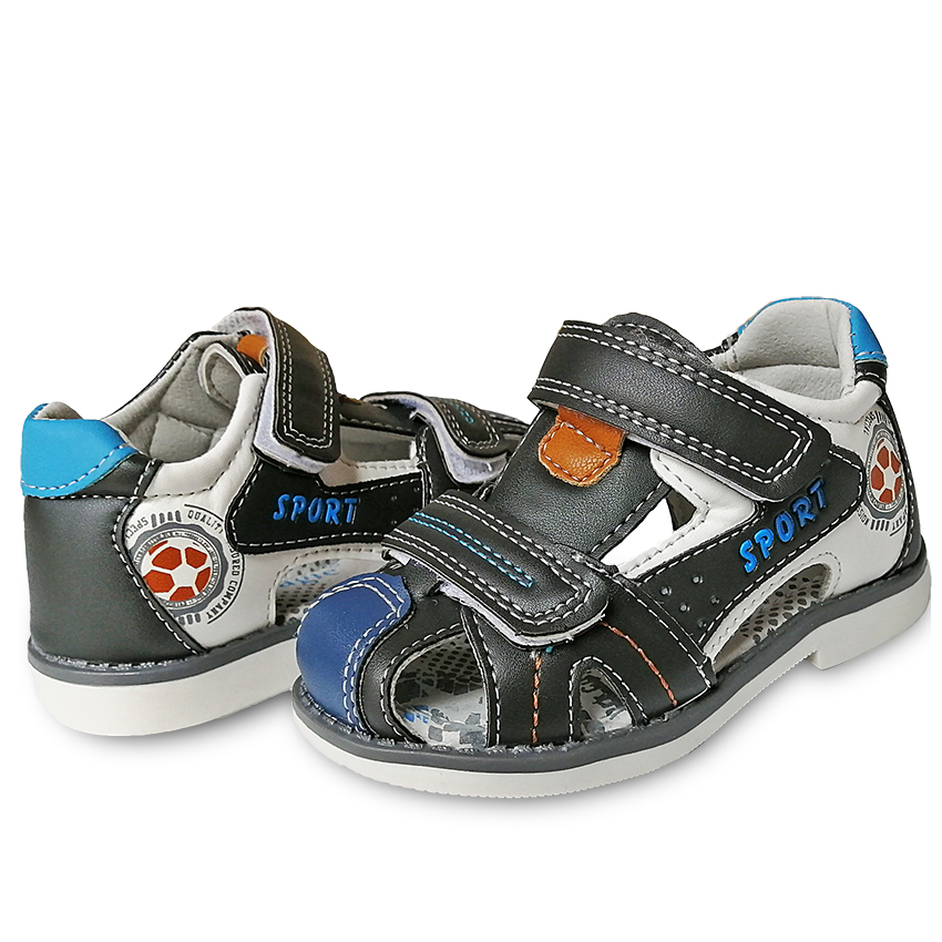 New 1pair Leather Shoes Orthopedic Sandals Children Shoes Arch Support Boy KIDS  Shoes