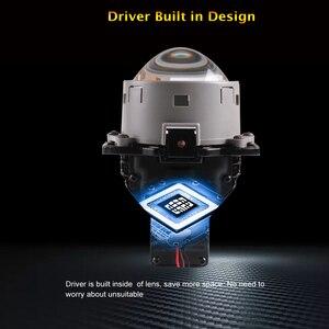Image 4 - SANVI 2PC 3 Cal samochód Bi obiektyw LED projektora reflektor 55w 5500K Auto Ice lampa akcesoria do świateł samochodowych reflektor motocyklowy