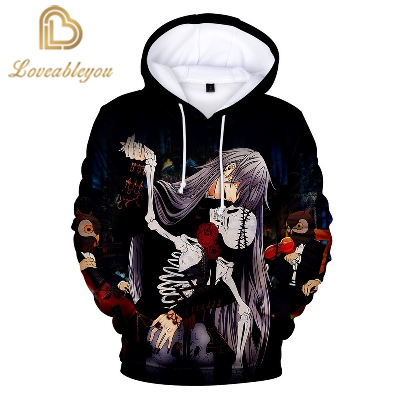 Black Butler 3d Prined Hoodies Men And Women Pullover Sweatshirt Boys And Girls Fashion Casual Hoodie Tops