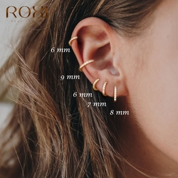 Roxi 925 Sterling Silver Earrings For Women/Men Small Hoop Earrings Ear Bone aros Tiny Ear Nose Ring Girl aretes ear hoops A30