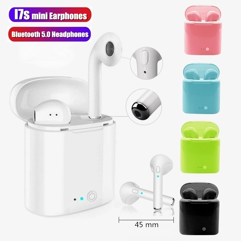 i7s mini tws Wireless earphones <font><b>Bluetooth</b></font> <font><b>Headphones</b></font> Handsfree earbuds 3D Stereo Sound Headset For Iphone <font><b>Xiaomi</b></font> huawei samsung image