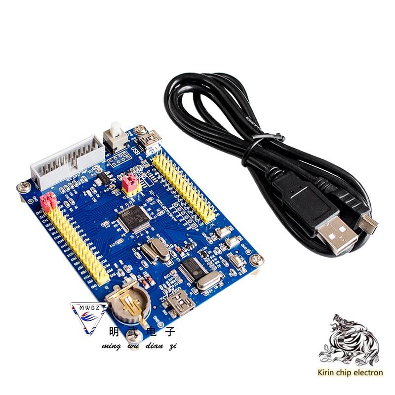 1pcs / Lot Mini Stm32f103rbt6 Core Board / Blue Oil / Cortex-M3 / 72mhz / USB One Click Download