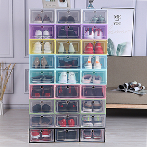 6 Pcs Plastic Storage Container Candy Colors Shoes Box Organizer For Things Modern Storage Organizer Colorful For Storing Shoes