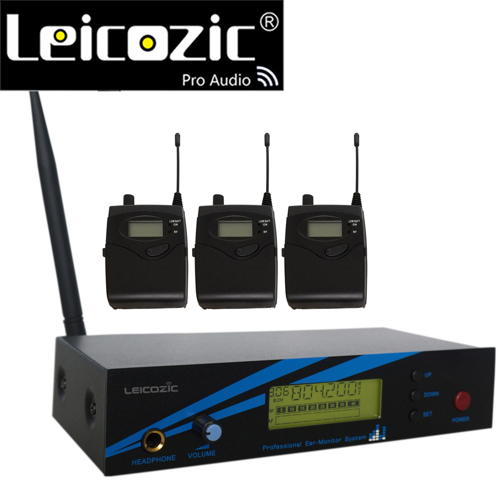 Leicozic L-500 Super Wireless In-Ear Monitor System UHF Bühne IEM System In-ohr Monitor 300iemg2 G2 3 Empfänger + 1 Sender
