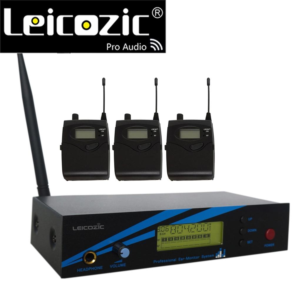 Leicozic L-500 Super bezprzewodowa douszny System monitorowania systemu UHF etapie IEM System douszny System monitorowania 300iemg2 G2 3 + 1 odbiorniki nadajnik
