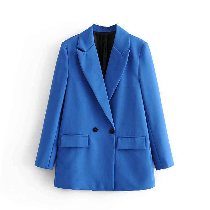 ฤดูใบไม้ร่วงและฤดูหนาวผู้หญิงชุดลำลองสี double-breasted กระเป๋าตกแต่งชุด