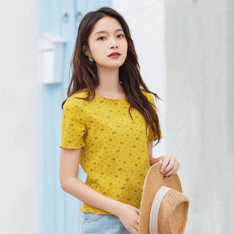 INMAN 여름 새 도착 짧은 소매 티셔츠 빈티지 스타일 인쇄 인과 휴일 패션 탑스 티셔츠