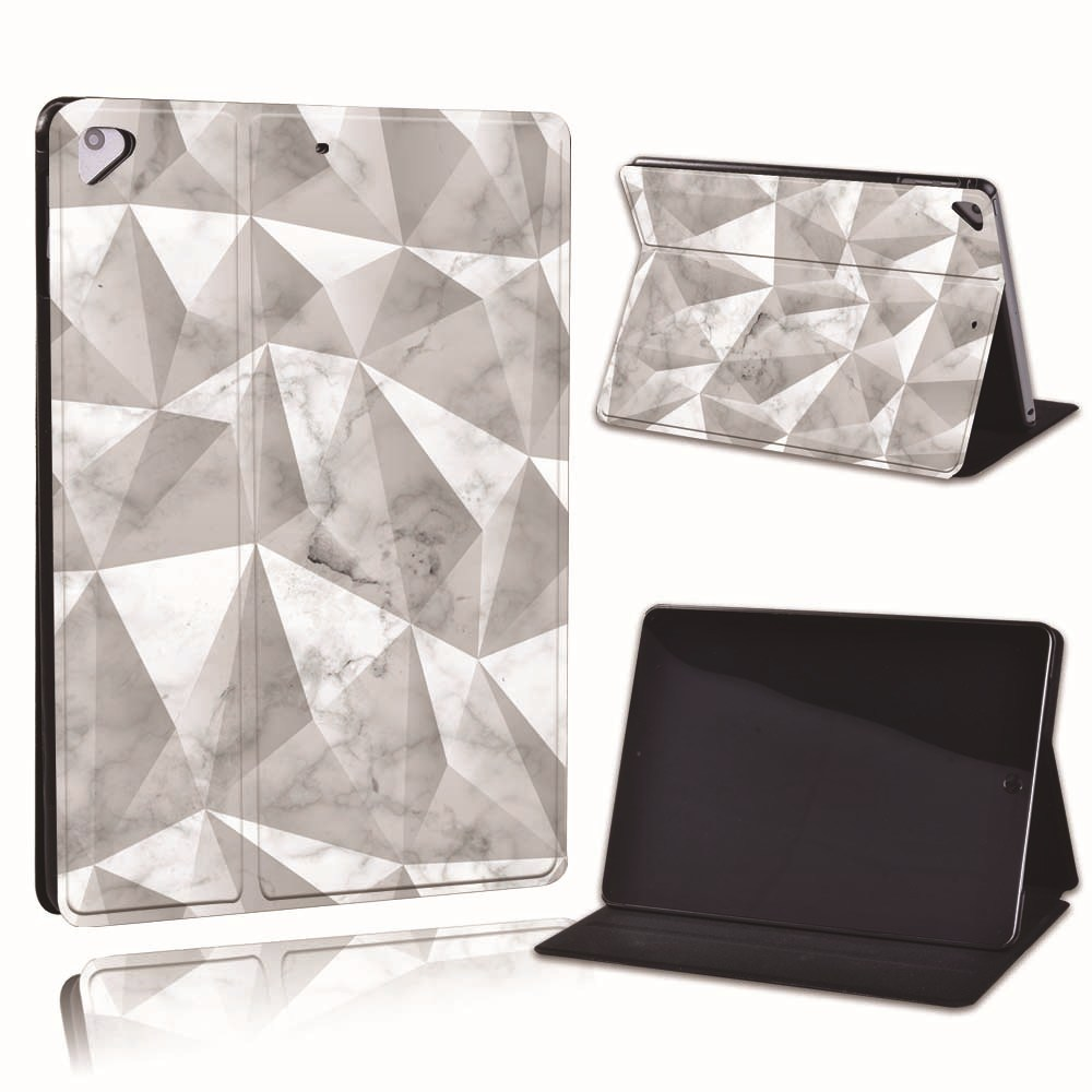 PU Slim (8th Leather A2429 For Printed iPad 8 Geometry Apple 2020 Generation) 10.2