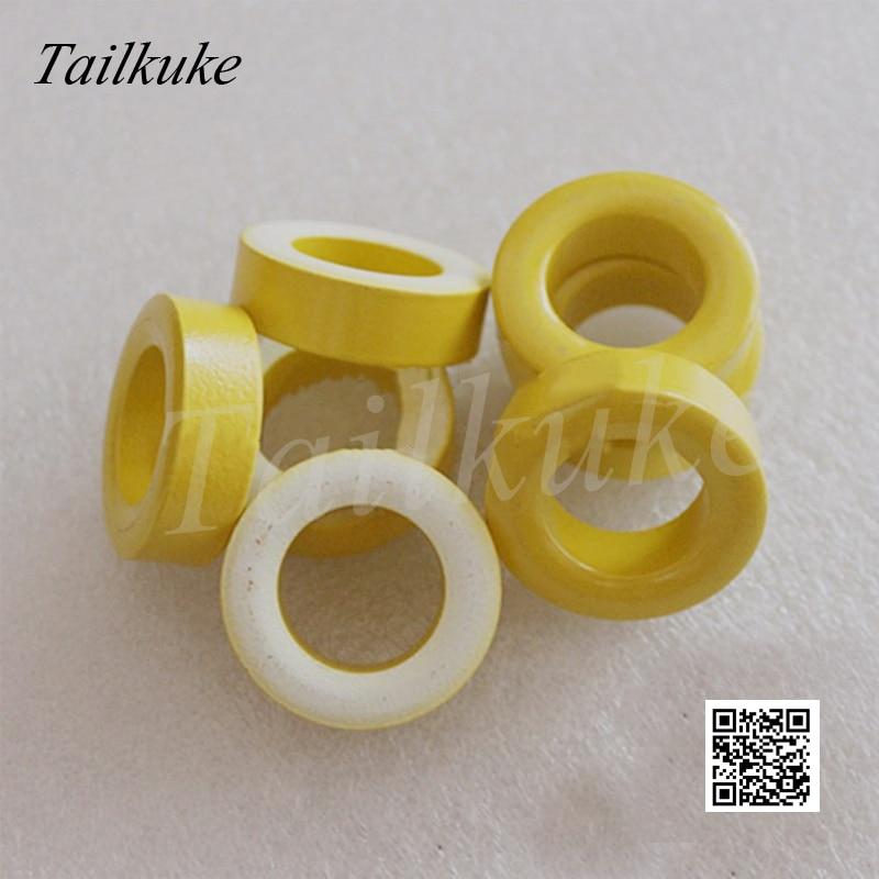 20 pcs lote t130 26 ferro em po nucleo anel magnetico amarelo branco anel 33 19