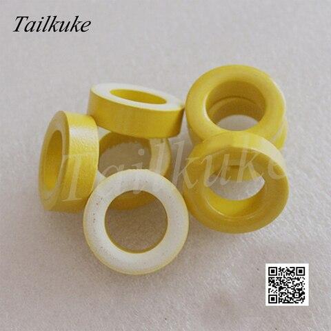 20 pcs lote t130 26 ferro em po nucleo anel magnetico amarelo branco anel 33