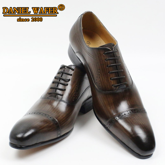 GENUINE LEATHER OXFORD DRESS SHOES  5