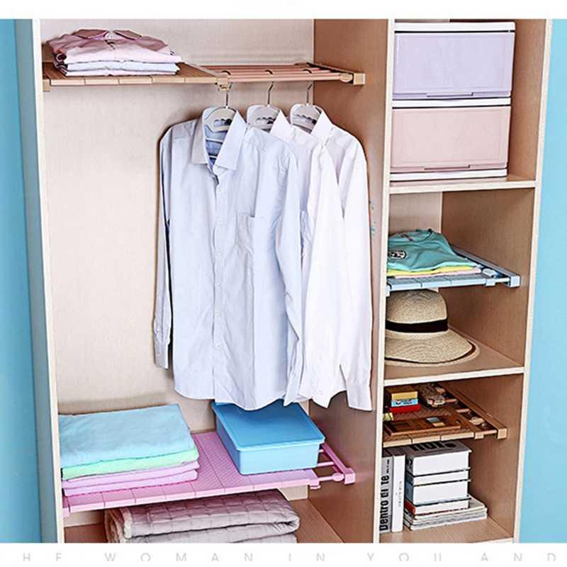 1PC 옷장 주최자 선반 침실 가구 벽 마운트 캐비닛 홀더 주방 옷장 선반 공간 저장 캐비닛 선반