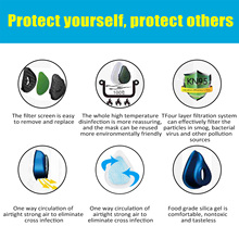 N95 Mask Filter Respirator Anti Virus Reusable Protective Mask Adult Masks Child Kids Air Purification In Stock 24Hours Shipping