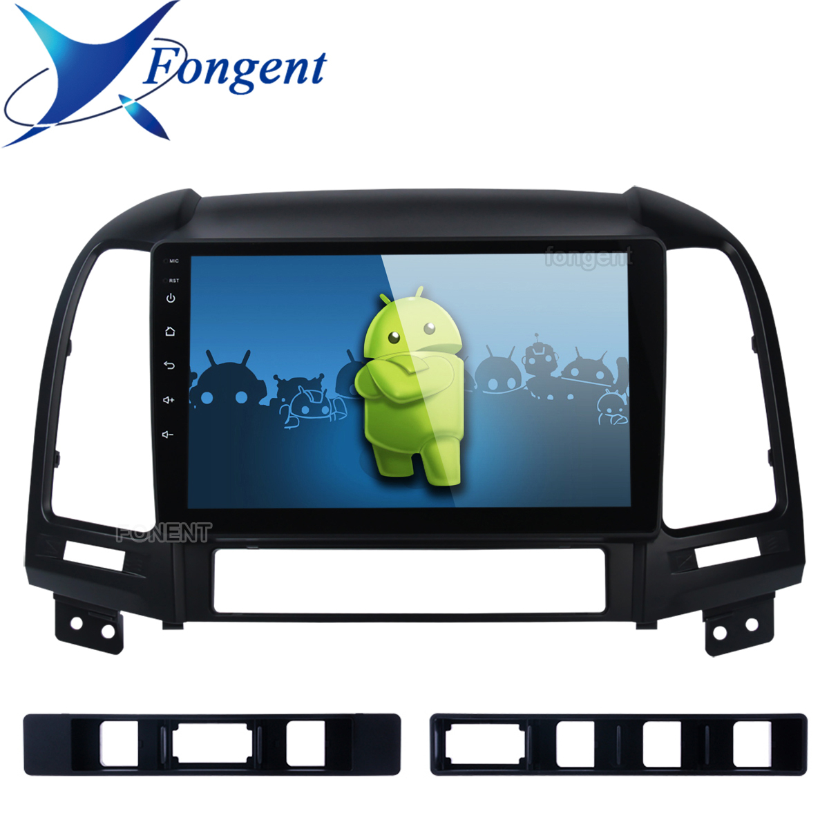 Android 9.0 Head Unit For <font><b>Hyundai</b></font> <font><b>Santa</b></font> <font><b>Fe</b></font> 2005 2006 2007 2008 2009 <font><b>2010</b></font> 2011 2012 Car Radio Multimedia Player <font><b>Gps</b></font> Stereo Audio image