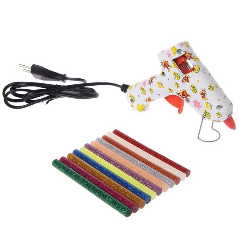 11 個グリッターホットメルト接着剤はグルーガンクラフト電話ケース合金玩具アートモデルアルバム修理アクセサリー接着剤スティック