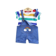 2020 new summer baby boys girls clothing fashion cotton stripes T-shirts+overalls sets 2Pcs casual kids clothes toddler baby set 1 2 3 4 year boys clothes 2018 new cotton casual kids outfits star shirts stripe pants 2pcs baby children clothing set