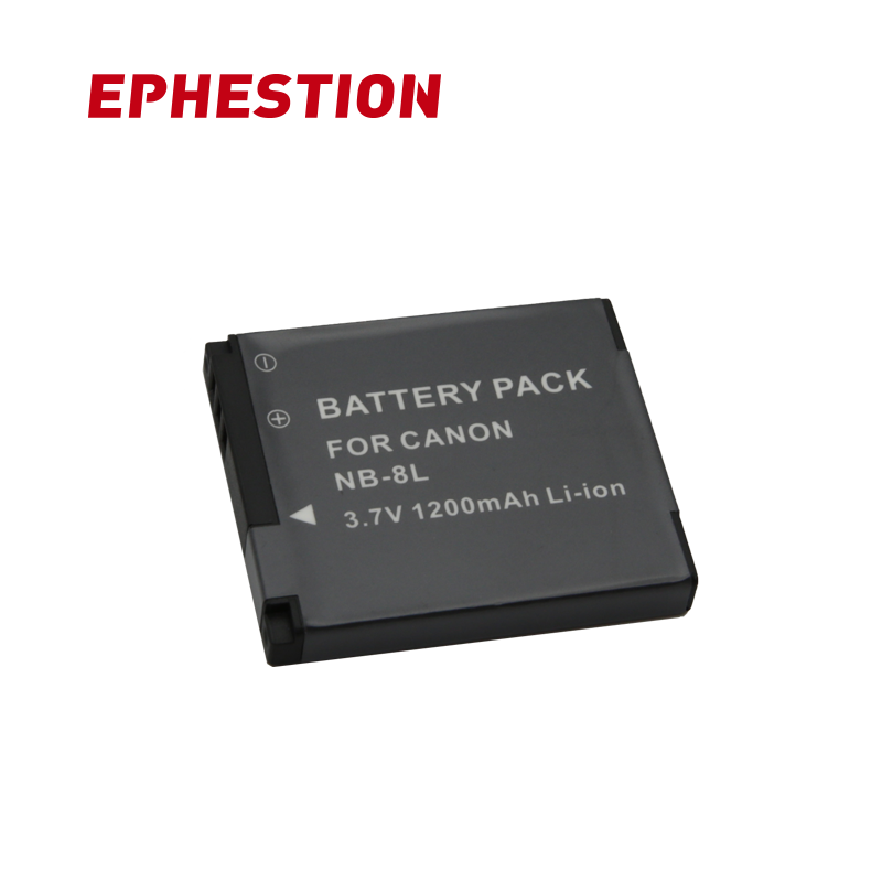 EPHESTION NB-8L NB8L NB 8L For Canon A3300 A3200 A3100 A2200 A1200 IS Camera Battery Pack  Li-ion Battery High Capacity