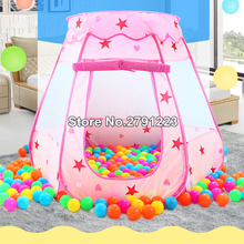 Дети океан мяч Яма бассейн игрушки открытый и Крытый детские игрушки палатки для маленьких девочек Сказочный Дом принцесса Игровая палатка