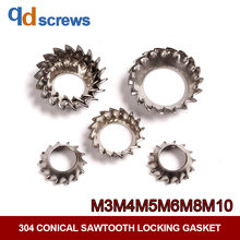 304 M3M4M5M6M8M10 Conical Sawtooth Locking Stainless Steel Anti-loosening washer stop gasket DIN6798.3