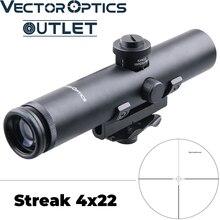 וקטור אופטיקה Streak 4x22 AR. 223 5.56 קומפקטי לשאת ידית Riflescope הוכחת הלם אלקטרו רובה