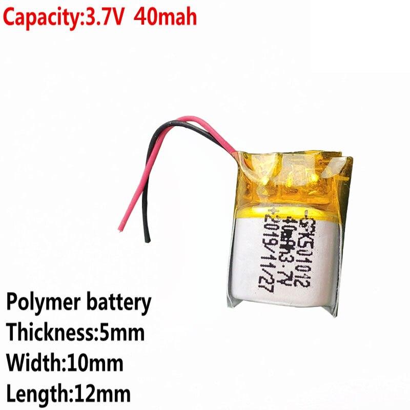 Новая батарея хорошего качества 3,7 в 40 мАч полимерная литиевая батарея 501012 подходит для I7 bluetooth гарнитуры MP3 MP4