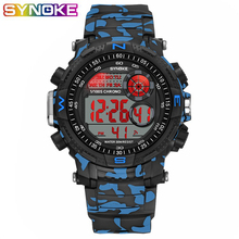 SYNOKE Sports Men Digital Watches Military Led Shock Resistant Waterproof Shockproof Stop Watch Date Week Male WristWatches synoke g military digital sports men s watches s waterproof male clock electronic wristwatches shock men black big army watch
