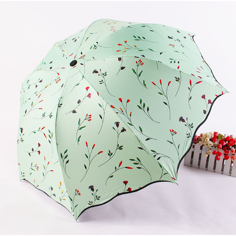 Umbrella Factory Mixed Batch LM205 Daisy Folding Umbrella Rain Or Shine Black Umbrella UV-Protection Advertising Umbrella Sun Zi