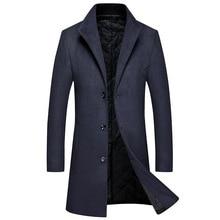 2020 MenStylish Wool Long Coat Autumn Winter Warm