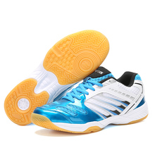 New Professional Men Badminton Sneakers Women Size 36-45 Light Tennis Shoes Men Ladies Breathable Red White Badminton Shoes maultby men s saga td badminton shoes training breathable anti slippery light sport badminton shoes