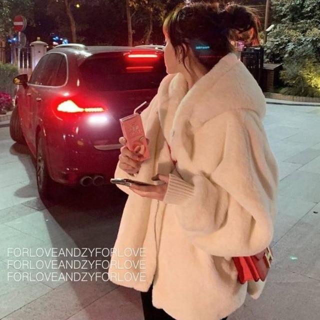 Faux Fox Fur Winter coat with Hoodie 6