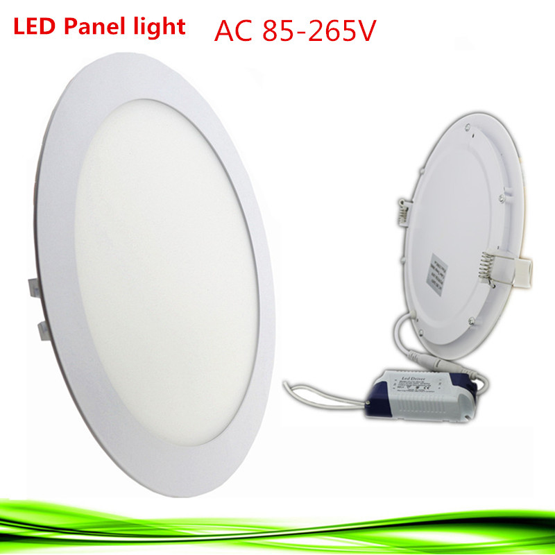 Ultra Thin LED Panel Light 3 W 6 W 9 W 12 W 15 W 18 W Driver Included AC85-265V Recessed Lamps For Ceiling Panels For Indoor Lig