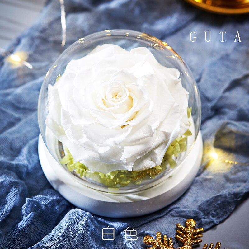Вечная эксклюзивная Роза в стеклянном куполе Красавица и Чудовище Роза романтические подарки на день Святого Валентина подарок на Рождество подарки на праздник - Цвет: G09-I