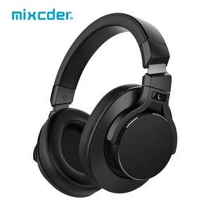 Image 1 - Mixcder E8 bezprzewodowa aktywna redukcja szumów Bluetooth słuchawki z mikrofonem nauszny zestaw słuchawkowy z głęboki bas dla TV PC telefony