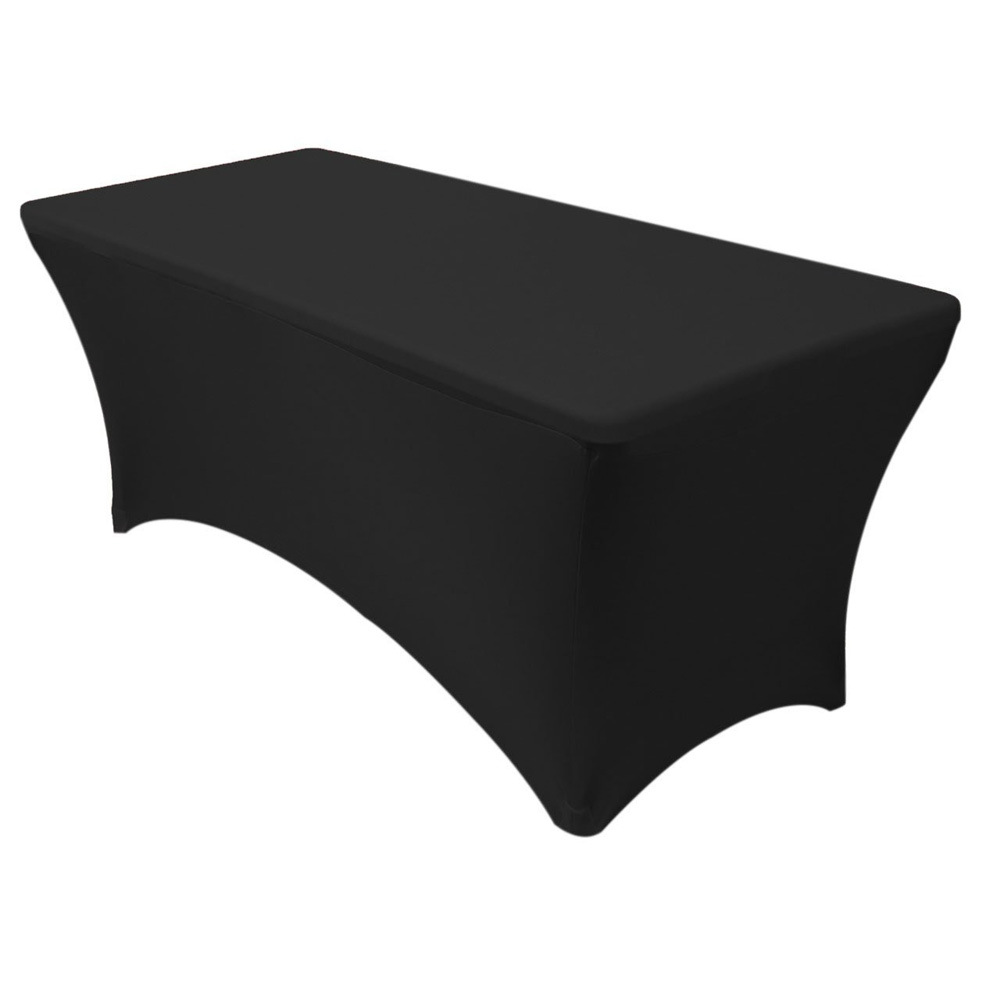 6 Ft Rectangular Spandex Table Cover For Wedding Party Banquet Events Decoration