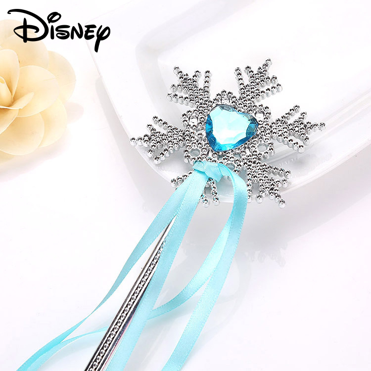 Frozen Children's Snowflake Magic Wand Toy Streamer Princess Magic Stick Blue Crystal Bow Toys For Girls Kids Party Accessories