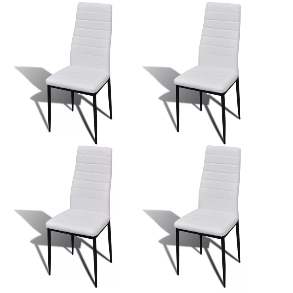 Vidaxl 4 PCS Dining Chairs American Home Ins Chairs Net Red Nordic Dining Table And Chair Fine Design White Brown Black