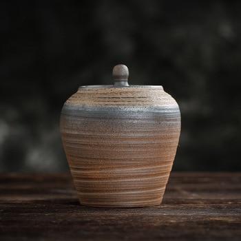 Contenedores para té Vintage madera de té olla de cerámica pequeño número...