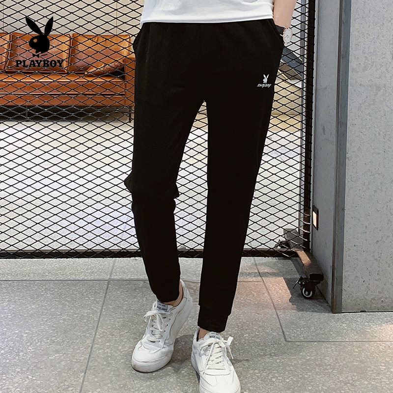 PLAYBOY Fashion Men Korean-style Slim Fit Solid Color Minimalist Version Of Casual Trousers Men's
