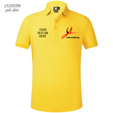 Add a text on your custom-made Men Polo Shirt, Create design, Custom Text, own