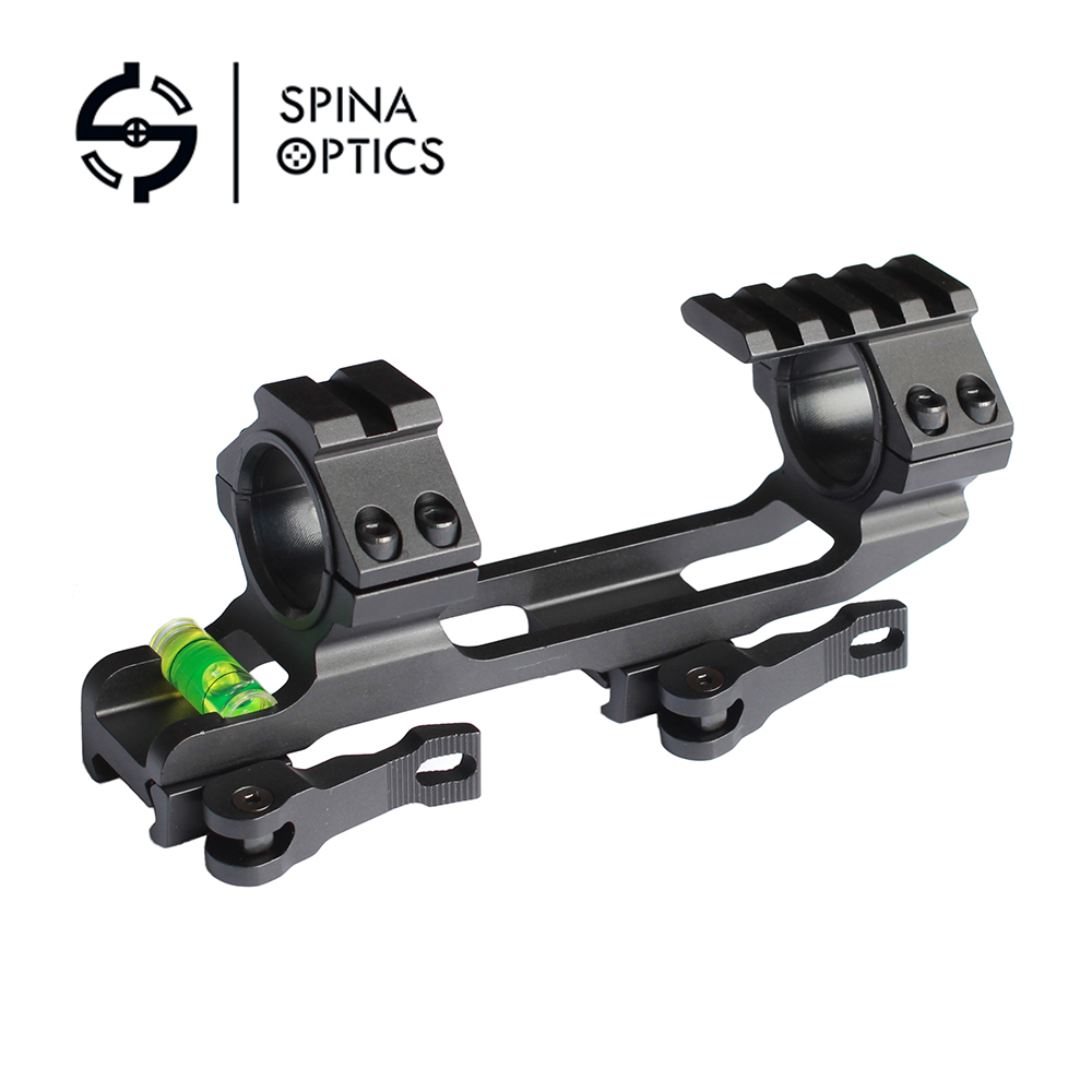 New 30mm/25.4mm Scope Ring QD Mount Base With Spirit Bubble Level Picatinny Rail Gun Accessory For Hunting