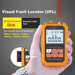 Image 5 - Mini 4 in 1 Multifunction Optical Power Meter Visual Fault Locator Network Cable Test optical fiber tester 5km 15km VFL