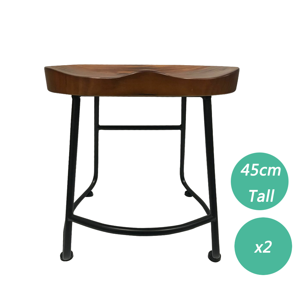 2/4PCSBar StoolRetro-inspired Contemporary Stunning Look Solid Wood Counter Bar Stool For Kitchen Home Anti Slip Floor Protector