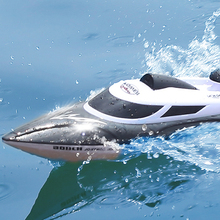 HGRC 2.4Ghz HJ806 Large RC Speedboat with LED Light 35km/h 200ms Waterproof Model High Speed Racing ship Gifts Toys for boys